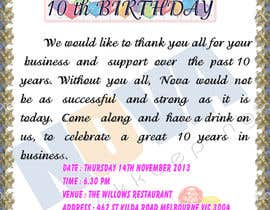 #8 untuk Business 10th Birthday Invitation oleh kvlrcube
