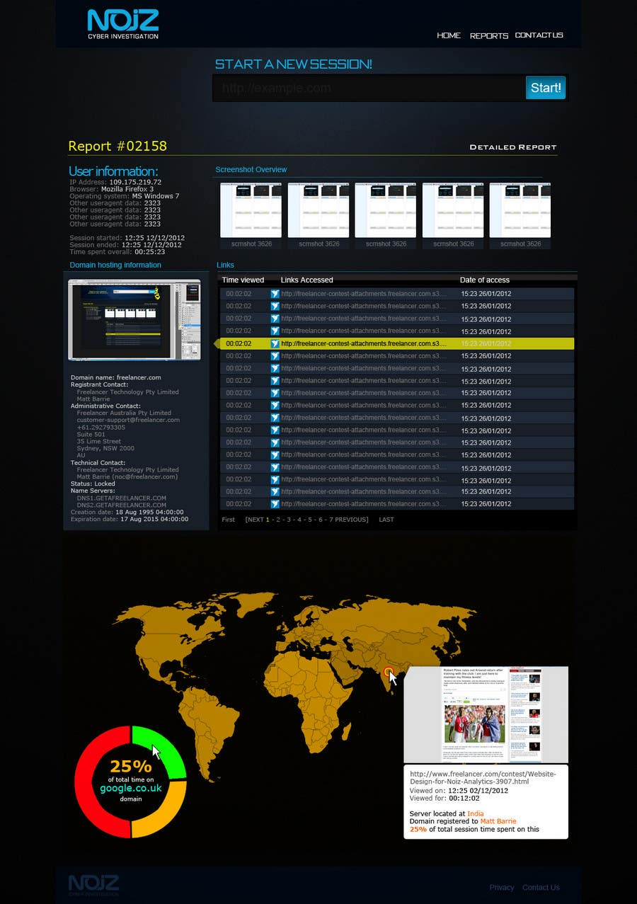 Contest Entry #                                        75                                      for                                         Website Design for Noiz Analytics