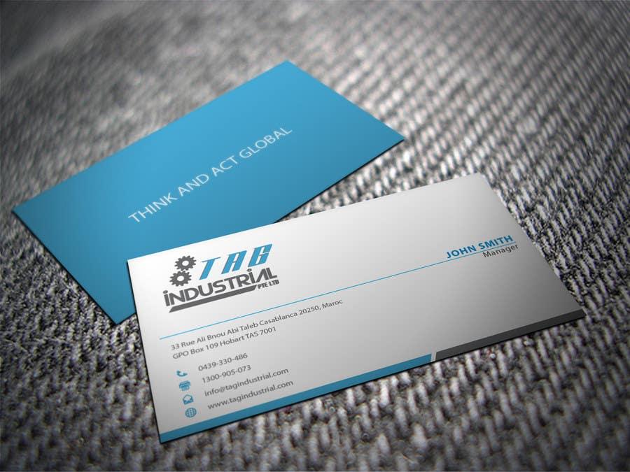 Business Card Design For Robotics Start Up Freelancer