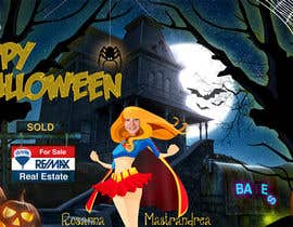 #18 para Design a Halloween postcard for a real estate agent por annahavana