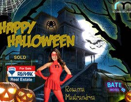#25 untuk Design a Halloween postcard for a real estate agent oleh annahavana