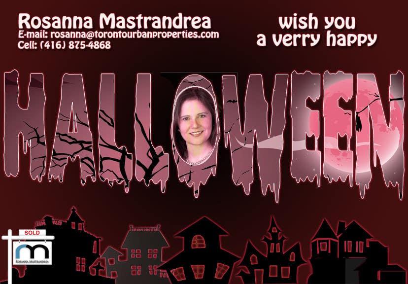 #12 for Design a Halloween postcard for a real estate agent by AlinutaM