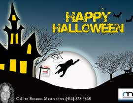 #21 untuk Design a Halloween postcard for a real estate agent oleh AdrianaKamura