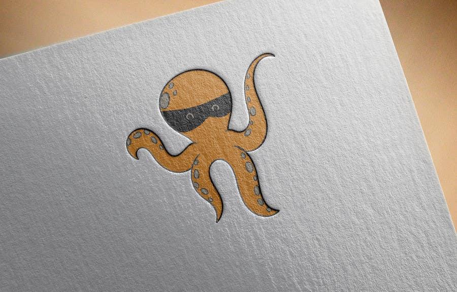 Příspěvek č. 14 do soutěže Design a bandit mask wearing octopus!