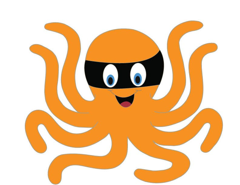 Příspěvek č. 11 do soutěže Design a bandit mask wearing octopus!