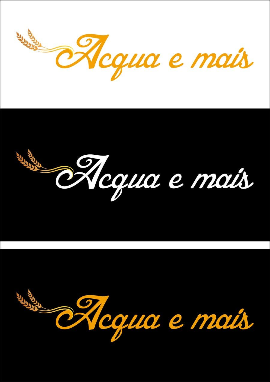 Contest Entry #11 for Acqua e Mais -> is the name of the company. please follow the style on the image attached