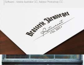#22 para Designa en logo for restaurant/ brasserie de kitfromdp