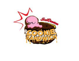 #24 for Cookie iceacream sandwich logo designed. In pop art/ comic theme by draganajovic