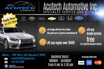 #13 for Design a Flyer for automotive repair shop 4x6 by dindinlx
