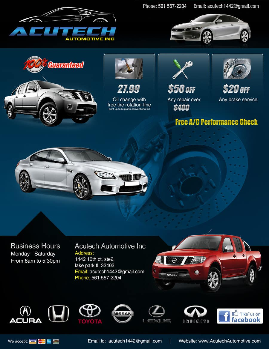 #9 for Design a Flyer for automotive repair shop 4x6 by Pixaart