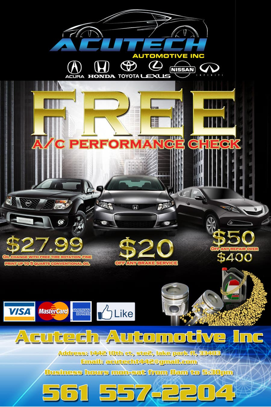 #11 for Design a Flyer for automotive repair shop 4x6 by rogeriolmarcos
