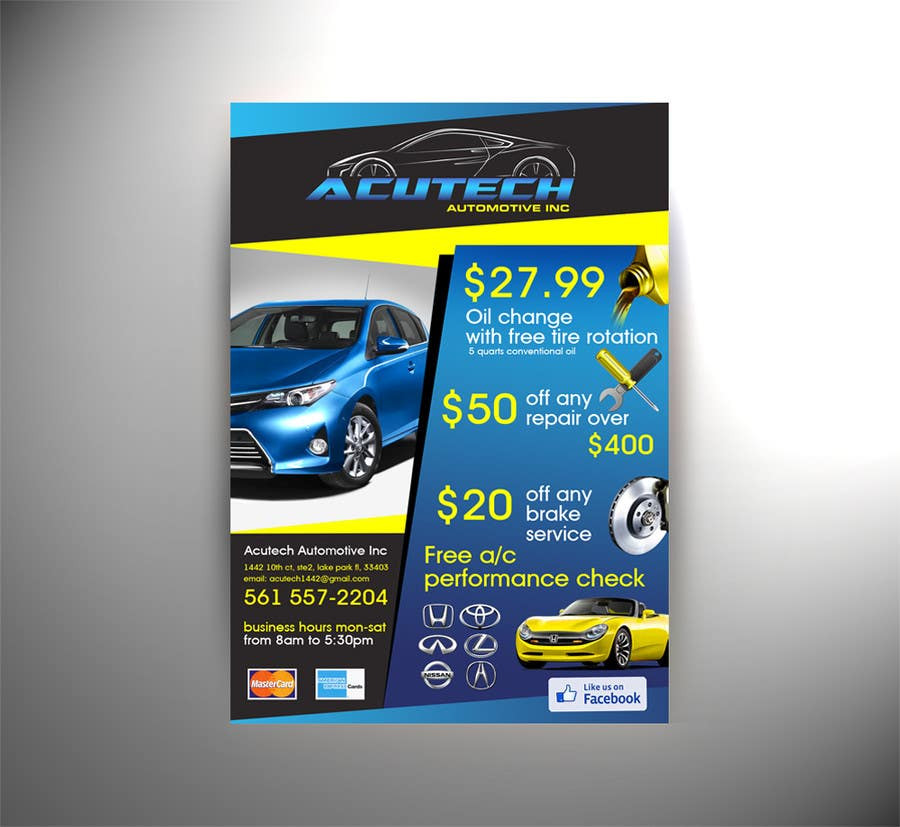 #4 for Design a Flyer for automotive repair shop 4x6 by Spector01