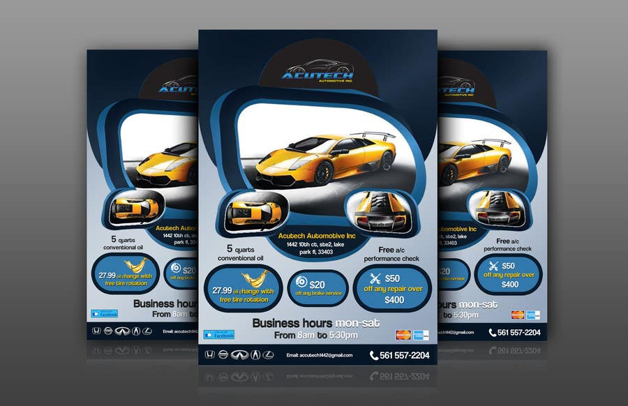 #22 for Design a Flyer for automotive repair shop 4x6 by Artimization