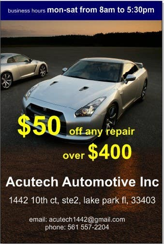 #21 for Design a Flyer for automotive repair shop 4x6 by poojark