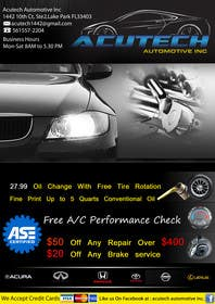 #15 for Design a Flyer for automotive repair shop 4x6 by job2sathishkumar