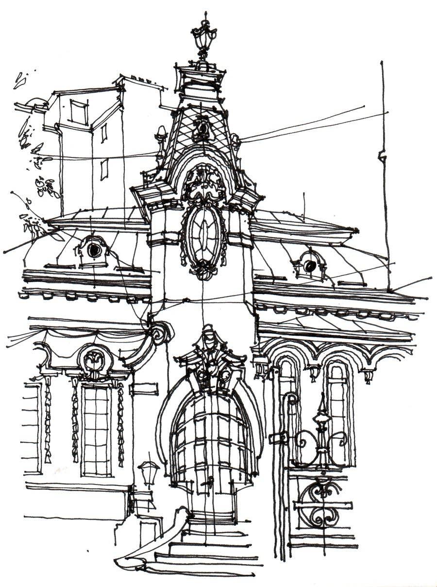 Kilpailutyö #14 kilpailussa B&W Pen & Ink Drawings of Cityscapes Wanted
