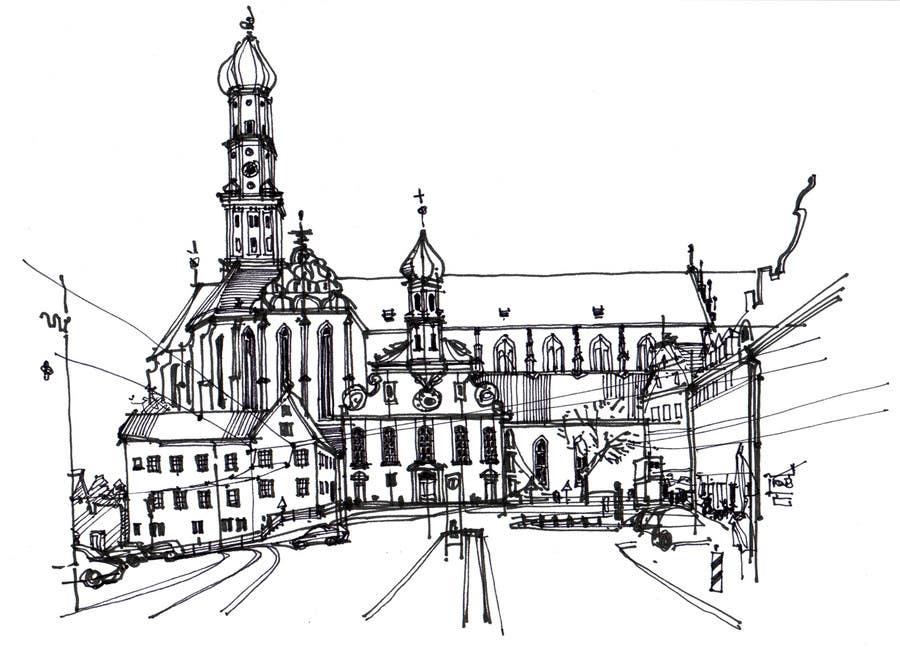 Penyertaan Peraduan #19 untuk B&W Pen & Ink Drawings of Cityscapes Wanted