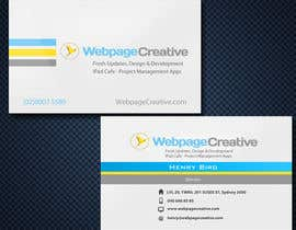 nº 31 pour WEBPAGECREATIVE-BUSINESS!!!CARDS par pcmedialab