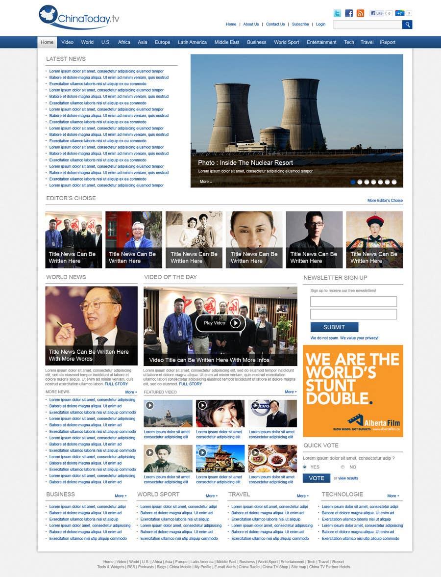 Конкурсная заявка №31 для Website Design for TodayChina.TV