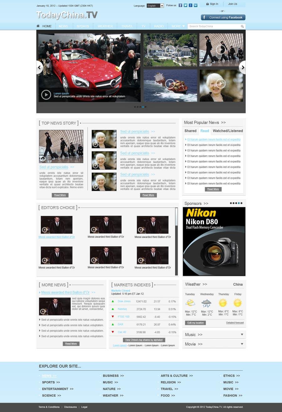 Konkurrenceindlæg #                                        36                                      for                                         Website Design for TodayChina.TV