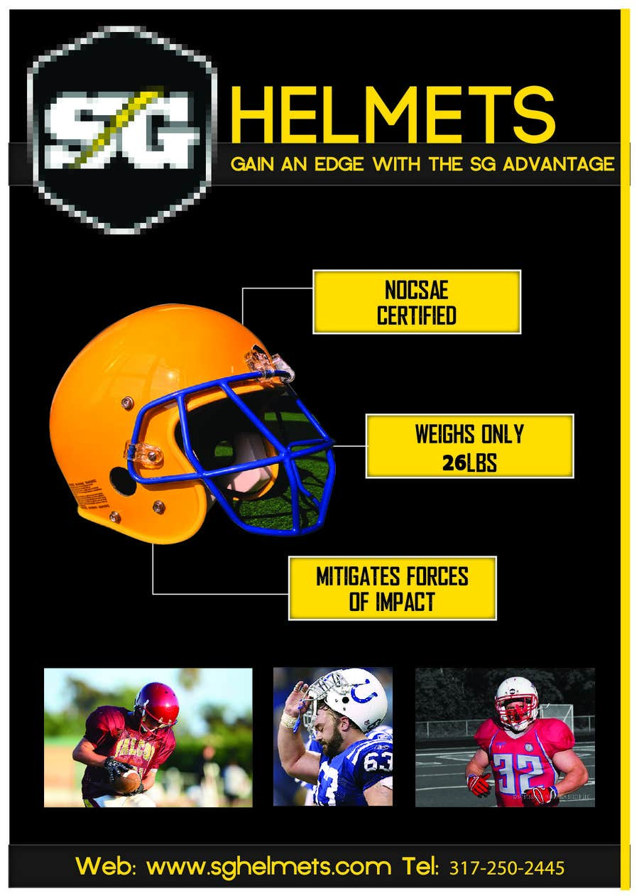 #2 for Design a Brochure for Football Helmets by blackd51th