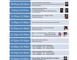#12 for I need some Graphic Design for an Event Agenda - repost by sunilbn