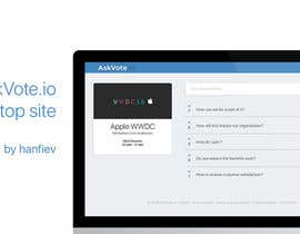 #15 for Design a web applicatoin (PSD) for interactive Q&A sessions -  askvote.io by hanfiev