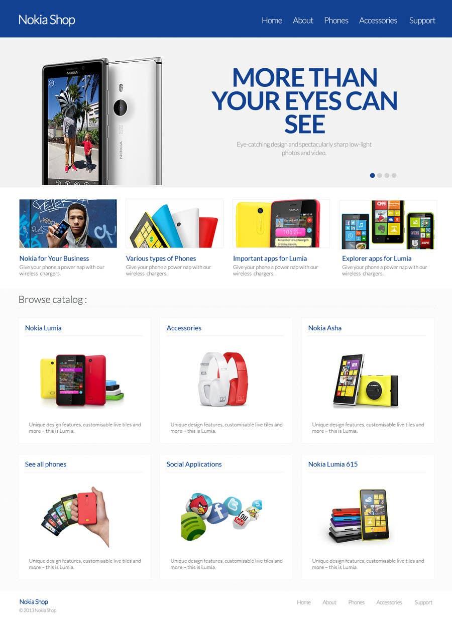 #37 for Design a Website Mockup for Nokia Online Shop - repost by patil1987