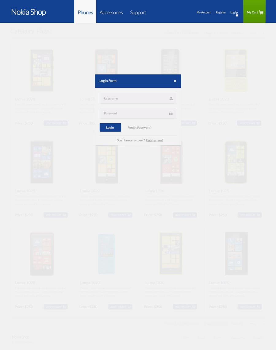 #102 for Design a Website Mockup for Nokia Online Shop - repost by patil1987