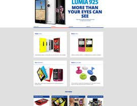 #12 for Design a Website Mockup for Nokia Online Shop - repost af hipnotyka