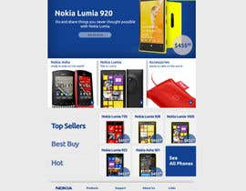 #82 untuk Design a Website Mockup for Nokia Online Shop - repost oleh CreativeWebLab