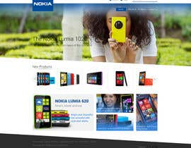 #53 untuk Design a Website Mockup for Nokia Online Shop - repost oleh dezcreation