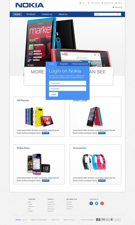 #59 for Design a Website Mockup for Nokia Online Shop - repost by MiNdfr34k