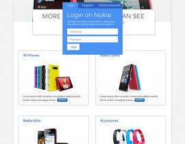 #59 for Design a Website Mockup for Nokia Online Shop - repost af MiNdfr34k