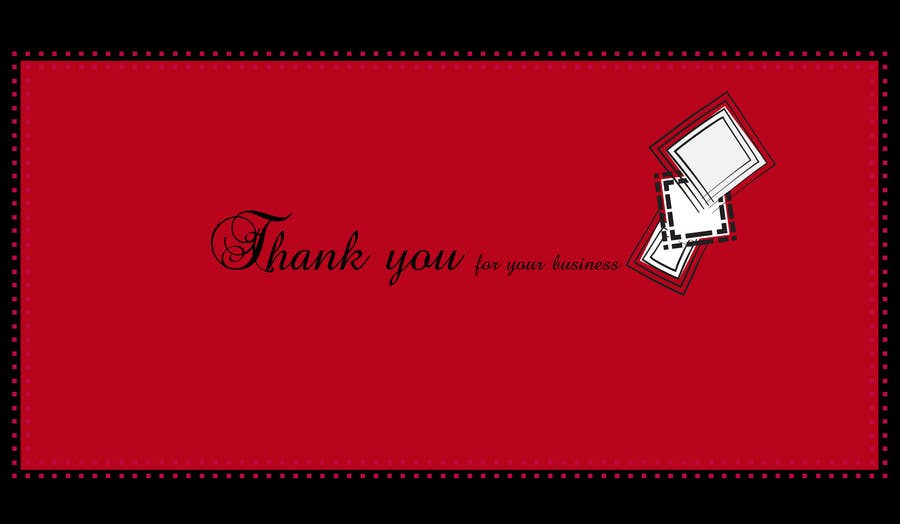 #16 for Design some Stationery for a Corporate Thank you card by raghdasaad24