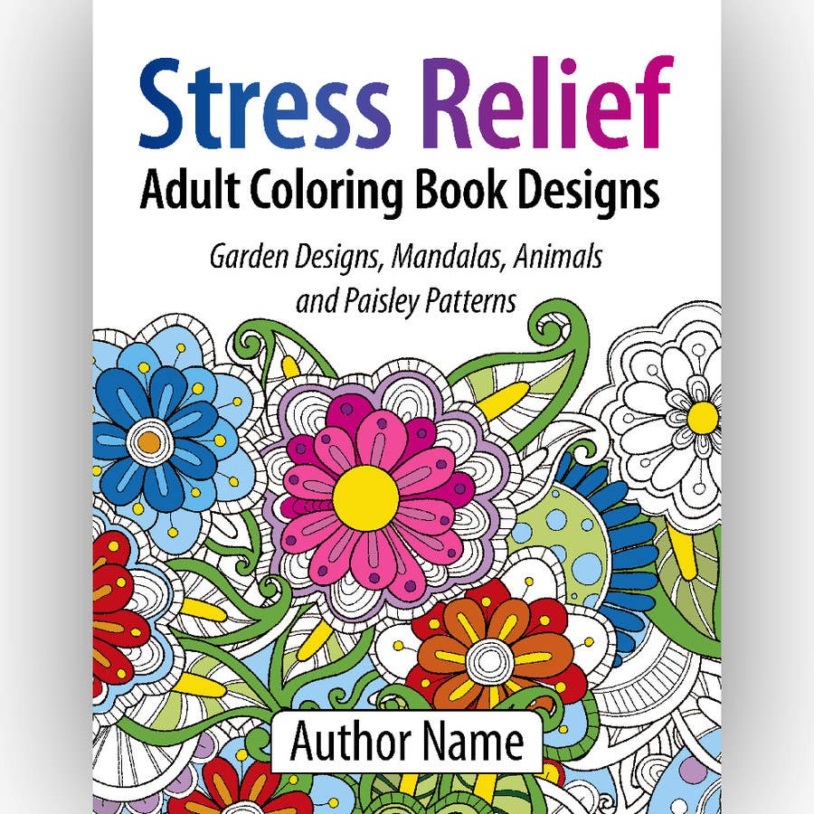 Entry #6 by espaciom for Adult Coloring book cover | Freelancer