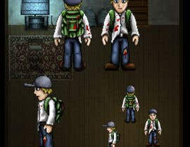 #5 para 2D pixel art sprite sheet of main character for an old school zombie apocalypse RPG video game por DrenusArt