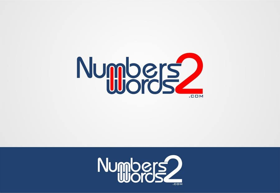 #124 for Design a logo for www.numbers2words.com by trying2w