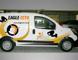 #18 para EagleCCTV Vehicle Branding Design por riyutama