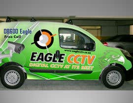 #25 para EagleCCTV Vehicle Branding Design por riyutama