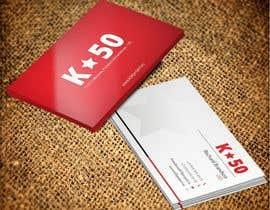Nro 21 kilpailuun Business cards design for K50 (Разработка визитных карточек) käyttäjältä pankaj86