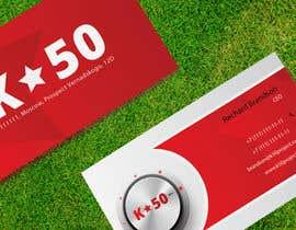 Nro 38 kilpailuun Business cards design for K50 (Разработка визитных карточек) käyttäjältä pankaj86