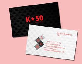 #61 untuk Business cards design for K50 (Разработка визитных карточек) oleh rishavkumar93