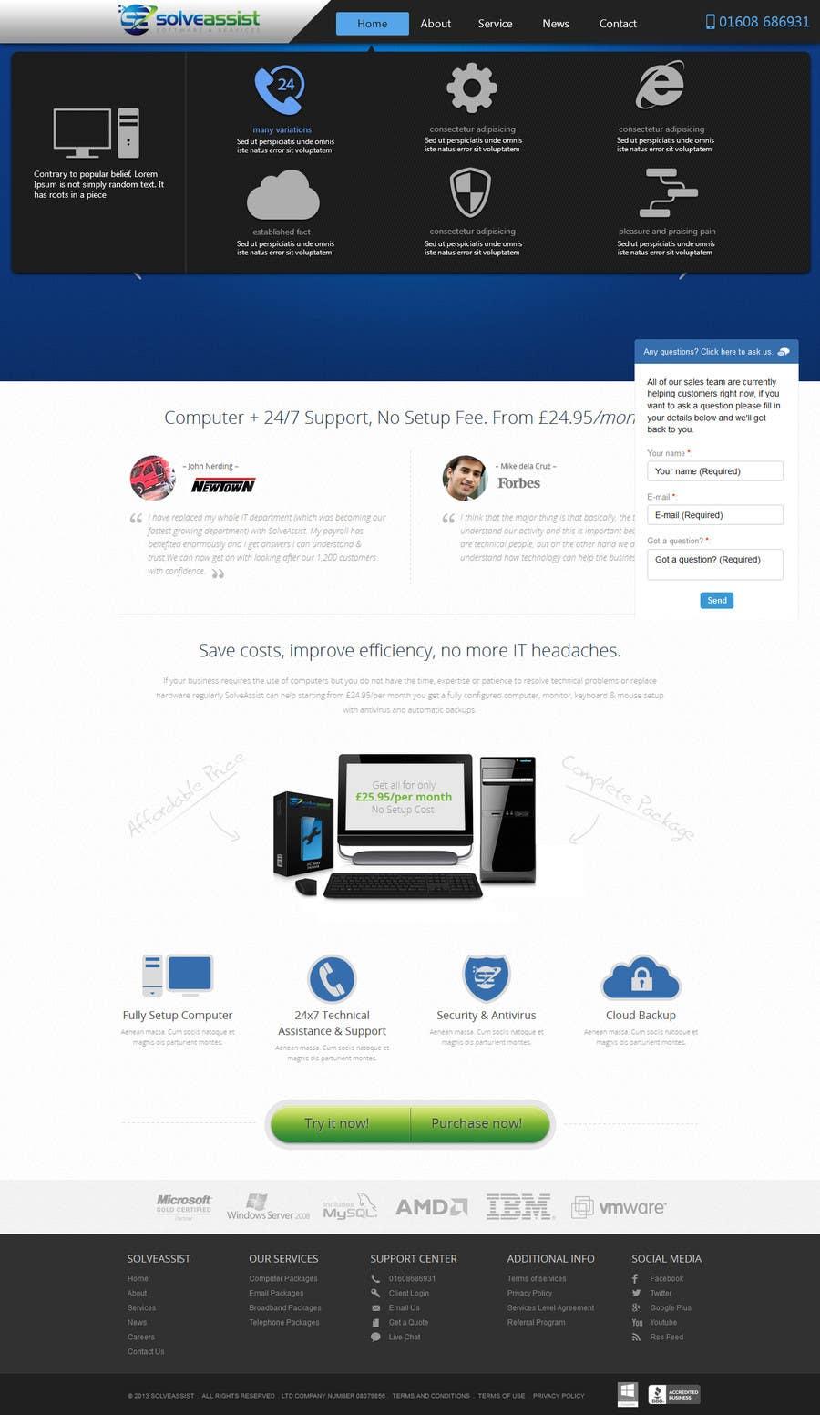 #9 for Design a WordPress Menu (User Interface) by webcloud9