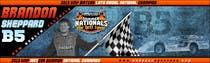 Graphic Design Inscrição do Concurso Nº44 para Design a Banner for Brandon Sheppard Racing