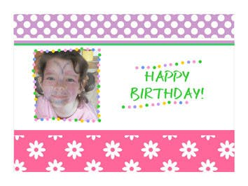 #72 for Design some Stationery for Childs Birthday Photo Card by primavaradin07