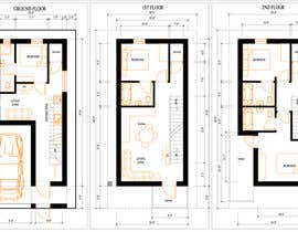 #2 for House Plan for a small space: Ground Floor + 2 floors by InnaGeyer