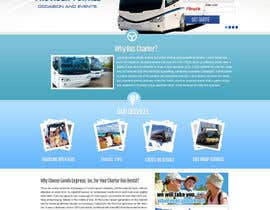 #17 para Design a Website and inside pages Mockup and Logo for Bus Rental Company por MagicalDesigner