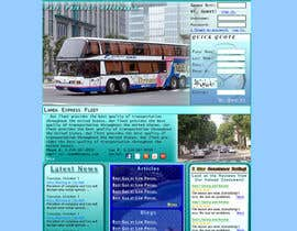 #1 untuk Design a Website and inside pages Mockup and Logo for Bus Rental Company oleh ScottContina