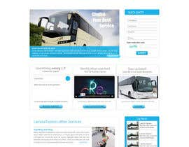 #9 para Design a Website and inside pages Mockup and Logo for Bus Rental Company por conceptcit